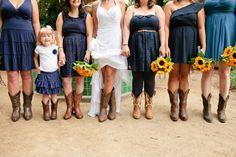 Amber and Jeremiah San Diego Botanical Garden Wedding Party | Flower Girl | Sun Flowers