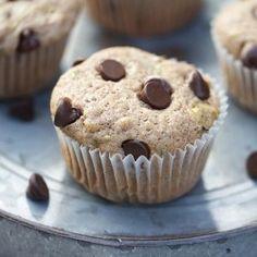 Chocolate chip zucchini muffins.  Yum! #recipe     Healthy chocolate muffins    ...