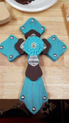 12 inch 3D wooden cross