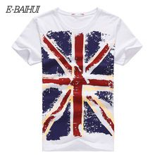 bd1395dacc E-BAIHUI Brand Cotton men Clothing Male Slim Fit t shirt Man T-shirts  Casual T-Shirts Skateboard Swag mens tops tees Y001
