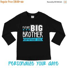 SALE Future Big Brother Personalized Date Big by VazzieTees