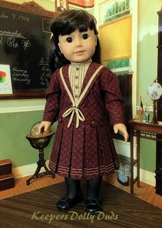 Edwardian Pleated Frock made to fit American Girl Doll , an Original KeepersDollyDuds Design Original American Girl Dolls, American Girl Doll Costumes, American Girl Doll Molly, American Girl Clothes, Doll Dress Patterns, Costume Patterns, America Girl, Ag Doll Clothes, Special Dresses