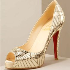 Christian Louboutin Mirrored Pumps Light Golden Qc28001