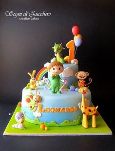 Baby Tv cake - Cake by Maria Letizia Bruno Beautiful Cakes, Amazing Cakes, Baby Tv Cake, Disney Themed Cakes, Baby Birthday Cakes, Cakes For Boys, Cute Cakes, Creative Cakes, Shower Cakes