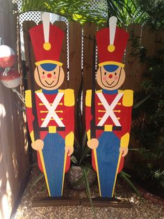 Wood Toy Soldiers made by Rene Hatalovsky for the Christmas float that took 1st place in the Holiday Parade in Key West, Florida December 7, 2013
