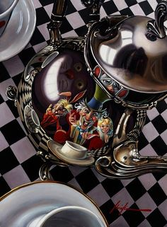 "Mad Hatter's Tea Party"" by Christian Waggoner alice in wonderland photo shot apii"