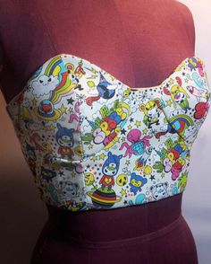 Cropped Bustier/Corset by bishoujobomb on Etsy