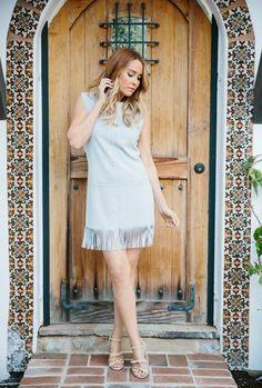 Lauren Conrad wearing the perfect fringed mini dress