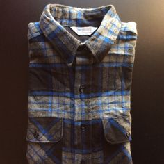 Vintage heavy flannel shirts! This one is Five Brother size L.
