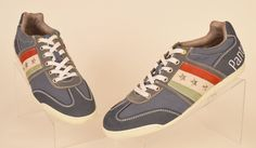 Pantofola d'Oro Mens multi color lace up Canvas Fashion Sneakers Italy Sz 9 used #PantofoladOro #FashionSneakers
