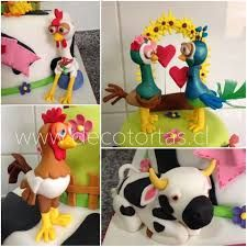 Resultado de imagen para tortas de las canciones de la granja Gallo Pinto, Jamel, Gum Paste, Baby Shower Cakes, Fondant, Ideas Para, Diy And Crafts, Birthday Parties, Kids