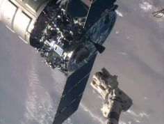 Spaceflight Now | Cygnus Mission Report | Cygnus cargo spacecraft flies away from space station