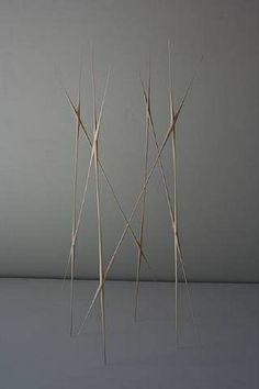 'Palace' (2009) by American artist Christopher Kurtz (b.1975). Basswood sculpture, 23.2 x 14 x 7 in. via Artware Editions on artnet