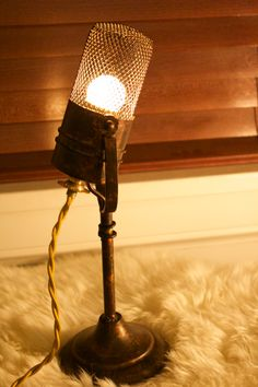 Vintage Microphone Light Fixture by Industrialighting on EtsyCertainly a collectors item. Each of the microphones in the collection are individually designed and unique all to themselves. This one is no different, but is every bit different. Its a keeper. More: https://www.etsy.com/shop/Industrialighting?ref=listing-shop-header-item-count