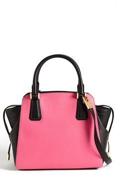 Michael Kors 'Miranda' Colorblock Leather Satchel