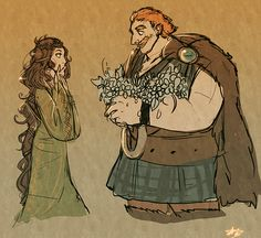 Young Elinor and Fergus. (AWWW that is so sweet.)