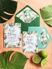 tropical exótico exotique ananás pineapple casamento mariage colorfull aloha wedding thème tema flores flowers flamingo flamant rose palmeira cocotier folhas verdes gigantes