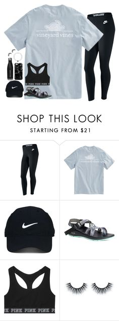 """""""cheer camp next week"""" by julesamber ❤ liked on Polyvore featuring NIKE, Nike Golf, Chaco, Victoria's Secret and Casetify"""