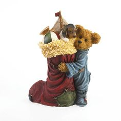 Boyds Bears Tyler T. Stockingsworth with Jack…The Best Gift Ever! Boyds Bears, Teddy Bears, Christmas Figurines, Christmas Ornaments, Cat Doll, Christmas Stockings, Best Gifts, Resin, Animals
