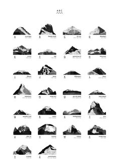 Find graphic design posters by Coco Lapine at THE POSTER CLUB. Mountain ABC, 50x70 cm. Fits standard frames. Frame is not included.