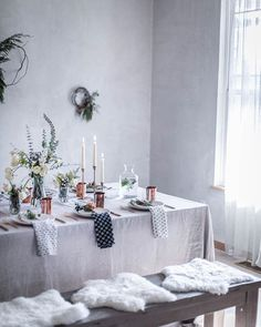 Winter Tablescape with Fresh Flowers and Copper // Local Milk // Beth Kirby