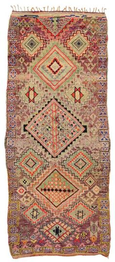 Vintage Berber Moroccan Rug with Modern Tribal Style and Judaic Influence    From a unique collection of antique and modern moroccan and north african rugs at https://www.1stdibs.com/furniture/rugs-carpets/moroccan-rugs/