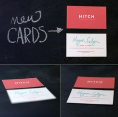 love Hitch's biz cards