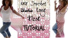 Boho Ombre Long vest Easy Tutorial - YouTube