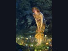 Edward Robert Hughes-Midsummer Eve.  We have this in our dining room.  Never knew who painted it.  Love his style!