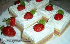 Epres-vaníliás szelet recept fotóval