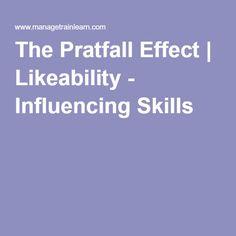 The Pratfall Effect | Likeability - Influencing Skills