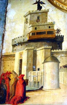 "Más tamaños | ""The Archangel Michael appears on Sant'Angelo castle in Rome"" by Francesco Pagano (attributed) - about 1492 - Naples, Capodimonte Museum | Flickr: ¡Intercambio de fotos!"