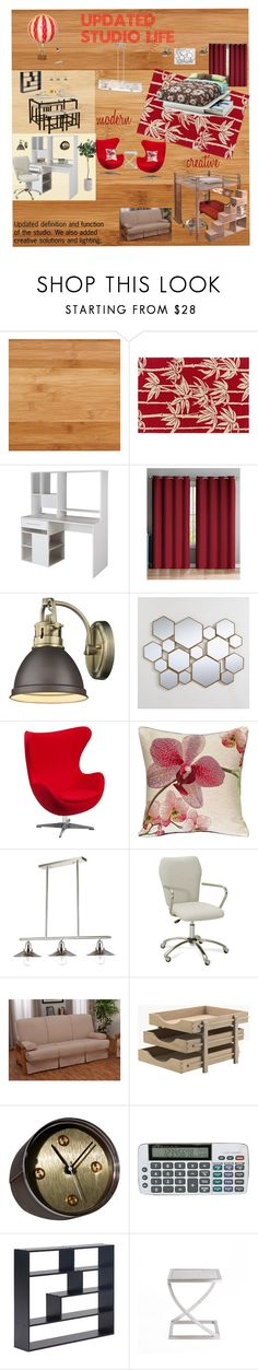 Updated Studio Space by rmc3403 on Polyvore featuring interior, interiors, interior design, home, home decor, interior decorating, Epic Furnishings, Flash Furniture, Pottery Barn and South Shore