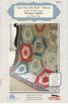 "Hexagon Garden - ""Just One Jelly Roll"" Quilt Pattern"