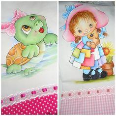 Pinturas em Tecido  Fraldas para meninas