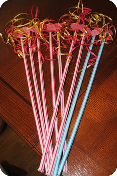 Fairy party favors and ideas oo pimping staws for the fairy tea party!!