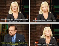 """25 Random Things We Learned From Watching """"Inside The Actors Studio"""" Leslie And Ben, Inside The Actors Studio, Comedian Quotes, Actor Studio, Amy Poehler, Celebration Quotes, The Thing Is, Iconic Women, Have A Laugh"""