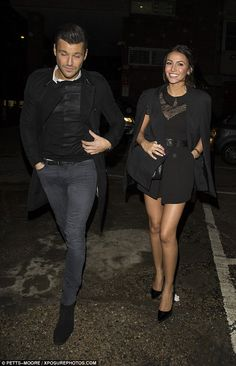 All black everything: Mark and Michelle coordinated their outfits for their evening out at...