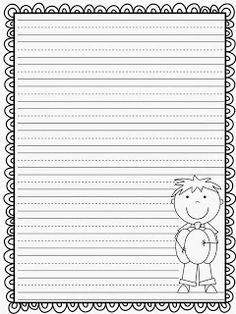 fall lined writing paper large lines perfect for young  fall writing paper