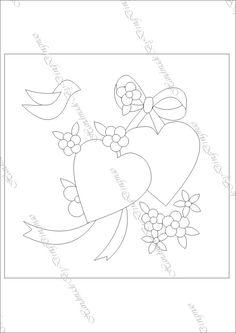 [转载]心心被 Quilt Block Patterns, Applique Patterns, Applique Quilts, Pattern Blocks, Quilt Blocks, Embroidery Hearts, Vintage Embroidery, Hand Embroidery, Embroidery Transfers
