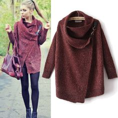Women Warm Batwing Cape Poncho Cloak Outwear Jacket Coat Pullover Sweater Tops in Clothing, Shoes & Accessories, Women's Clothing, Coats & Jackets | eBay