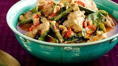 Curry thaï au poulet.