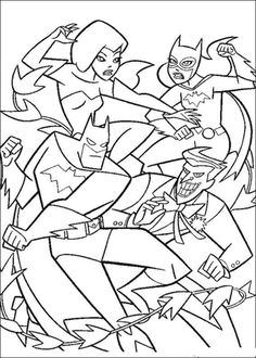 Batman Fight coloring page from Batman category. Select from 25680 printable crafts of cartoons, nature, animals, Bible and many more.