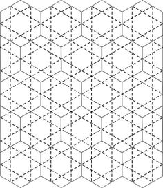 hex quilting 4 by ruthdesigns, via Flickr