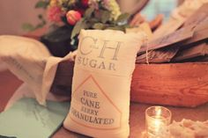 Can't get enough of these special touches like custom sugar bags! Thought into every last detail #cedarwoodweddings #weddingfavors #rusticweddings #nashvilleweddings