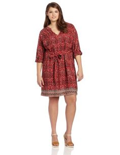Lucky Brand Women's Mitchell Border Print Dress, « Holiday Adds