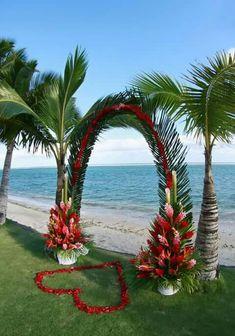Wedding arch.. Beach setting