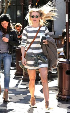 Julianne Hough from The Big Picture: Today's Hot Photos  Gone with the wind fabulous! The blonde beauty is seen with some seriously windswept hair while exitingZinque Cafe in West Hollywood.