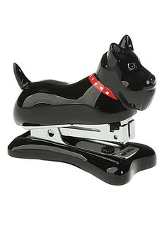 be35c1c819f This staplin  scottie is a mini stapler in the shape of a black Scottish  terrier ...