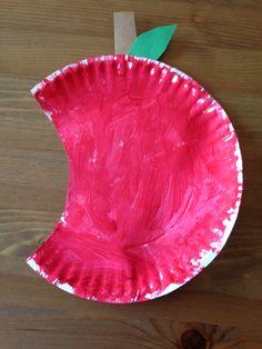 Paper Plate Apple Craft - Preschool Craft